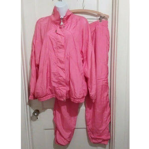 Vtg 80s 90s Casual Isle Windbreaker Track Suit L
